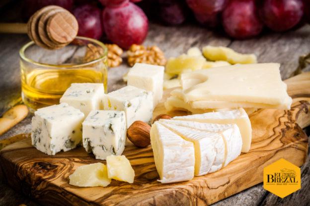 quesos con miel EL Brezal